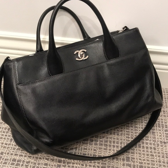 bec0c74cfd64 CHANEL Handbags - Chanel (AUTHENTIC) Black Large Shopping Tote